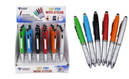 48 Units of Pen With Stylus And LED Light - Pens
