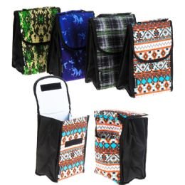 24 Units of Insulated Lunch Bags - Assorted Prints - Cooler & Lunch Bags
