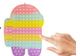 4 Units of Bubble Pop Toys Jumbo Pastel Among Us - Fidget Spinners