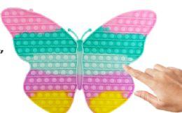 4 Units of Bubble Pop Toys Jumbo Pastel Butterfly - Fidget Spinners