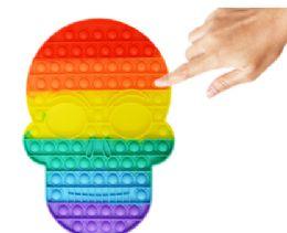 4 Units of Bubble Pop Toy Jumbo Skull Calavera - Fidget Spinners