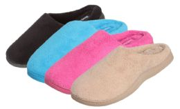 30 Units of Ladies Plush Zigzag Insole Slippers - Assorted Colors - Women's Slippers