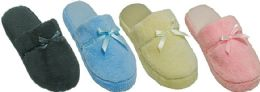 36 Units of Women's Slippers w/ Bow Adornment - Assorted Colors - Sizes 6-11 - Women's Slippers