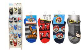 120 Units of Licensed Socks In Wing Panel Boys - Boys Ankle Sock