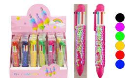 72 Units of Multi Color Retractable Pen Sequins - Pens