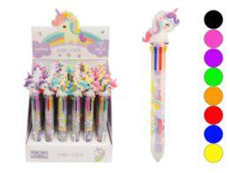 72 Units of Multi Color Retractable Pen Unicorn - Pens