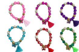 72 Units of Charm Bead Bracelet Butterfly - Bracelets