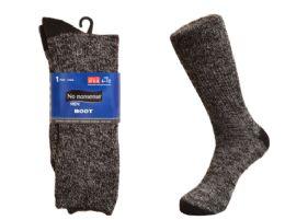 48 Units of Mens Boot Socks 1 Pair Made In USA - Mens Crew Socks