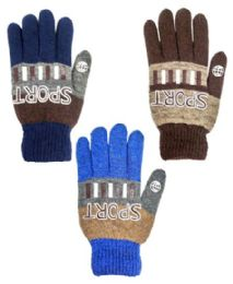 48 Units of Glove Mix Colors Men Gloves Sport - Knitted Stretch Gloves