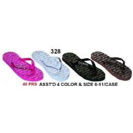 48 Units of Ladies Fashion Sandals - Women's Flip Flops