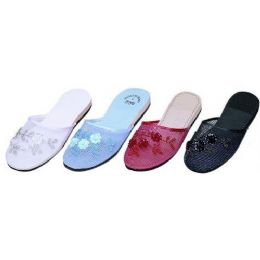48 Units of Ladies Chinese Slipper48 Pairs Assorted Colors 5-10 - Women's Sandals