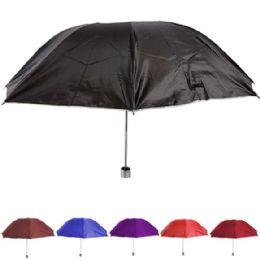 24 Units of Foldable Assorted Colors Umbrella - Umbrellas & Rain Gear