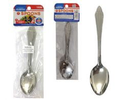 96 Units of 6 Piece Small Stainless Steel Spoons - Kitchen Gadgets & Tools