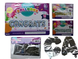 48 Units of Congrats Letter Balloons - Balloons & Balloon Holder