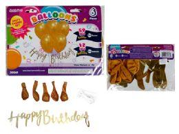 48 Units of Happy Birthday Banner - Balloons & Balloon Holder