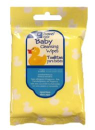 200 Units of Baby Travel Cleansing Wipes - 8-Packs - Baby Beauty & Care Items