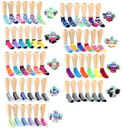 120 Units of Boy's & Girl's Low Cut Novelty Socks - Assorted Prints - Size 6-8 - Boys Ankle Sock