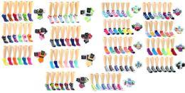 180 Units of Women's & Children's Novelty Low-cut Socks Combo - Girls Socks & Tights