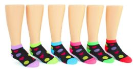 24 Units of Boy's & Girl's Low Cut Novelty Socks - Heart Prints - Size 4-6 - Girls Socks & Tights