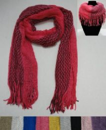 24 Units of Scarf/Loop Scarf with Fringe Two-Tone - Womens Fashion Scarves