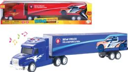 16 Units of Friction Semi Truck with Light and Sound - Cars, Planes, Trains & Bikes