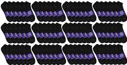60 Units of Yacht & Smith Mens Cotton Black Quarter Ankle Socks, Sock Size 10-13 - Mens Ankle Sock