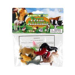 "48 Units of ""10 Pcs 2in Farm Animal In Environmental Pvc Bag - Animals & Reptiles"