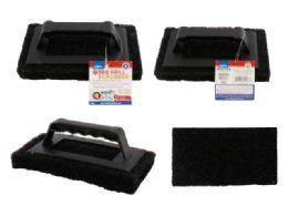 96 Units of Bbq Scrubber Pad with Handle - Scouring Pads & Sponges