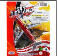 96 Units of Mini Airplane On Blister Card 3 Assorted Colors - Cars, Planes, Trains & Bikes