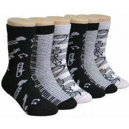 480 Units of Musical Girls Crew Socks - Girls Socks & Tights