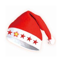 48 Units of Xmas Hat Flashing Star - Christmas Novelties