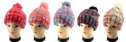36 Units of Wholesale Tie Dye Style Winter Hat - Winter Beanie Hats
