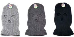 36 Units of Wholesale 3 Hole Winter knitted Mask/ Hat - Winter Beanie Hats