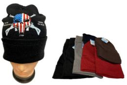 36 Units of Wholesale 2nd Amendment Liberty or Death Winter Hat - Winter Beanie Hats