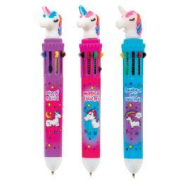 36 Units of Unicorn 10 Color Pen - Pens