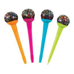 36 Units of Rainbow Mesh Ball Pens - Pens