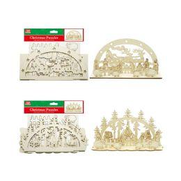 48 Units of Wooden Craft Decorations - Christmas Novelties