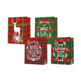 96 Units of 2pk Medium Xmas Bag - Gift Bags Christmas