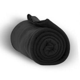 24 Units of Fleece Blankets/Throw -BLACK - Fleece & Sherpa Blankets