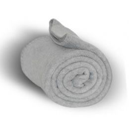 24 Units of Fleece Blankets/Throw - Heather - Fleece & Sherpa Blankets