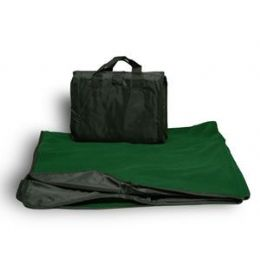 24 Units of Fleece Picnic Blanket - Forest Green - Blankets & Bedding