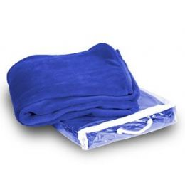 24 Units of Micro Plush Coral Fleece Blanket - Royal - Micro Plush Blankets