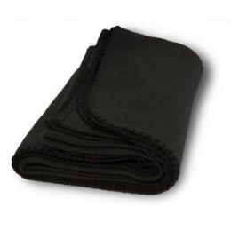 36 Units of Promo Fleece Blanket / Throws -BLACK - Fleece & Sherpa Blankets