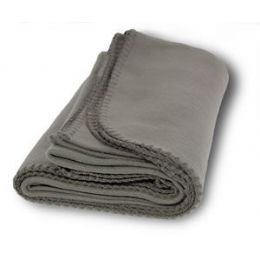 36 Units of Promo Fleece Blanket / Throws - Gray - Fleece & Sherpa Blankets