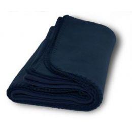36 Units of Promo Fleece Blanket / Throws - Navy - Fleece & Sherpa Blankets