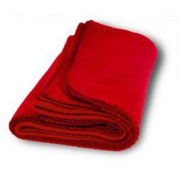 36 Units of Promo Fleece Blanket / Throws - Red - Fleece & Sherpa Blankets