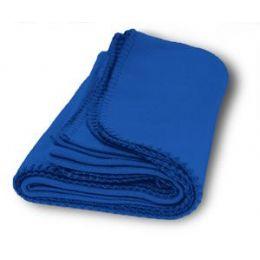 36 Units of Promo Fleece Blanket / Throws - Royal - Fleece & Sherpa Blankets