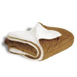 12 Units of Micro Mink Sherpa Blankets - Camel - Fleece & Sherpa Blankets