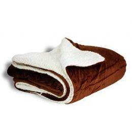 12 Units of Micro Mink Sherpa Blankets - Chocolate - Fleece & Sherpa Blankets