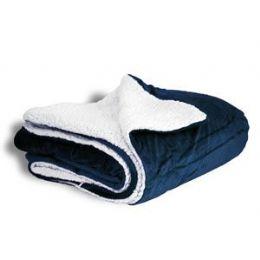12 Units of Micro Mink Sherpa Blankets- Navy - Fleece & Sherpa Blankets